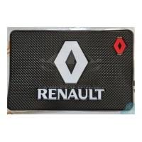 Липучий коврик 13х20см на панель приборов с логотипом RENAULT