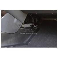 Накладки на ковролин центральные 2 шт. LADA Largus, LADA Largus Cross с 2012 г.в., Renault Logan 2, Renault Sandero I 20