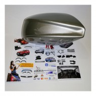 Аэродинамические накладки на боковое зеркало (242 СЕРЫЙ БАЗАЛЬТ) LADA Largus | Renault Duster | Renault Logan | Sandero