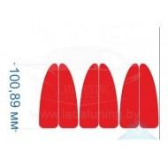 Светоотражающая наклейка катафот на двери Тип 1 лада ларгус рено логан