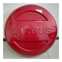 Колпак-Чехол (ОГНЕННО-КРАСНЫЙ) на запасное колесо ЛАДА ЛАРГУС R15 c надписью LARGUS