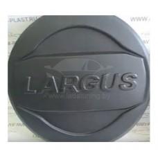Колпак-Чехол (ЧЁРНЫЙ ШАГРЕНЬ) на запасное колесо ЛАДА ЛАРГУС R15 c надписью LARGUS