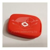 Чехол на ключ (красный) Рено Логан 2, Дастер 2 и другие