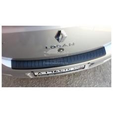 Накладка на задний бампер (АБС) Renault LOGAN II | Рено Логан 2 с 2014 г.в.