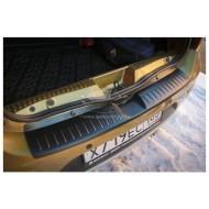 Накладка на задний бампер (АБС) Renault Sandero | Рено Сандеро с 2014 г.в.