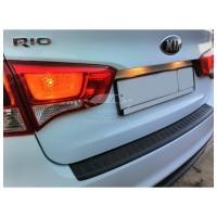 Накладка на задний бампер (АБС) KIA RIO | КИА РИО седан с 2014 г.в.