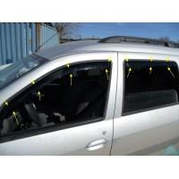 Дефлекторы (ветровики) вставные для Лада Ларгус - комплект 4 шт.