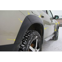 Накладки (комплект) на колесные арки Рено Дастер | Renault Duster с 2011 г.в. по 2015 г.в.