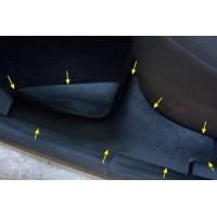Накладки на ковролин задние 2 шт. (АБС) Renault LOGAN II | Рено Логан 2 с 2014 г.в.