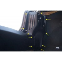 Внутренняя обшивка задних фонарей Рено Логан | Renault Logan с 2014 г.в. (комплект 2 шт.)
