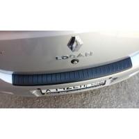 Накладка на задний бампер (АБС) Renault LOGAN II   Рено Логан 2 с 2014 г.в.