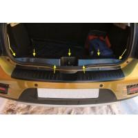 Накладка в проём багажник Рено Сандеро Степвей 2 | Renault Sandero Stepway 2 АртФорм с 2014 г.в.
