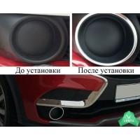 Хромированные накладки 2 шт. на передние ПТФ Лада Х Рей | Lada Xray