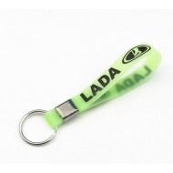 Силиконовый брелок с логотипом LADA. Светится в темноте.