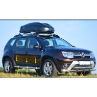 Молдинги - накладки на двери (ABS) Renault DUSTER с 2012