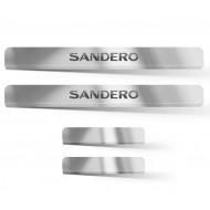Накладки в проем дверей (4шт) (НПС) RENAULT Sandero / Sandero Stepway с 2014