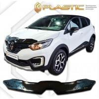 Дефлектор капота СА ПЛАСТИК (Art черный) Рено Каптур | Renault Kaptur