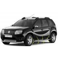 Защита порогов с алюминиевой площадкой Ø51 мм (НПС) Renault DUSTER с 2012, Nissan TERRANO с 2014