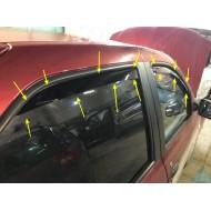 Вставные дефлекторы для Рено Логан 2 с 2014 г.в. | Renault Logan II с 2014 г.в.