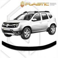 Дефлектор капота СА ПЛАСТИК  Рено Дастер (Шелкография черная) | Renault Duster с 2011 г.в.