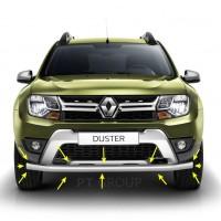 Защита переднего бампера одинарная Ø63 мм (НПС) на Renault DUSTER с 2012, Nissan Terrano с 2014 г.в.