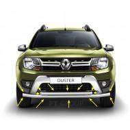 Защита переднего бампера двойная Ø63/51 мм (НПС) на Renault DUSTER с 2012, Nissan Terrano с 2014 г.в.