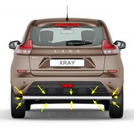 Защита заднего бампера одинарная Ø51 мм (НПС) LADA XRAY с 2016