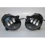ПТФ Светодиодные (LED) ДВУХРЕЖИМНЫЕ 30Вт увеличенной яркости (противотуманные фары) Лада Ларгус, Кал