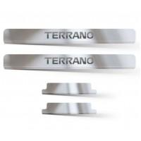 Накладки в проем дверей (4шт) (НПС) Nissan Terrano с 2014