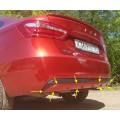 Тюнинг-накладка (диффузор) заднего бампера ИКАР для Лада Веста, СВ | Lada Vesta | Vesta SW