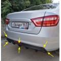 Диффузор заднего бампера VTS Лада Веста, SW | Lada Vesta седан | Vesta SW