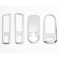 Накладки (Хром) 4 шт. на блок управления стеклоподъемниками Lada Xray | Lada Xray Cross