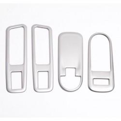 Накладки (Матовые) 4 шт. на блок управления стеклоподъемниками Lada Xray   Lada Xray Cross