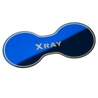 Накладка (синяя) в подстаканник Лада Х Рей из нержавеющей стали | Lada Xray