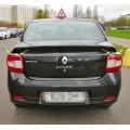 Накладки (хром) на задние фонари Рено Логан 2 | Renault Logan 2