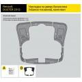 Накладки на 5-ю дверь (ABS) Renault DUSTER с 2012