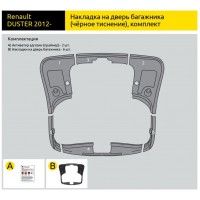 Накладки на 5-ю дверь (ABS) Renault DUSTER с 2012
