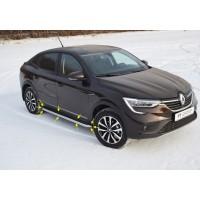 Защита порогов с алюминиевой площадкой Ø51 мм (НПС) Renault ARKANA с 2019 -