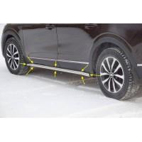 Защита порогов вогнутая (НПС) Renault ARKANA с 2019 -