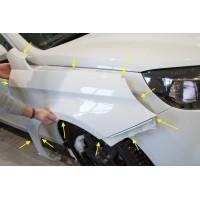Пластиковое крыло (ПРАВОЕ) Лада Веста | LADA Vesta ОКРАШЕННОЕ в цвет автомобиля (1 шт.)