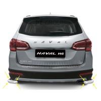 Защита заднего бампера одинарная угловая 63 мм (НПС) HAVAL H6 с 2014
