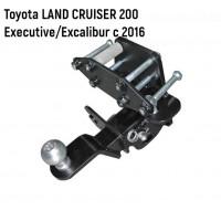 Тягово-сцепное устройство | Фаркоп Toyota LAND CRUISER 200 Executive/Excalibur c 2016 - съемный квад