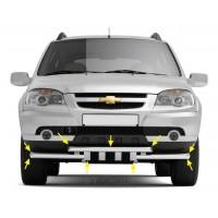 Защита переднего бампера двойная с зубьями Ø63/63 мм (НПС) Chevrolet NIVA с 2009