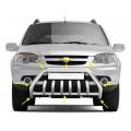 Защита переднего бампера с защитой картера