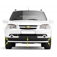 Защита переднего бампера одинарная Ø63 мм (НПС) Chevrolet NIVA с 2009