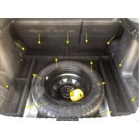 Органайзер (фанера+карпет) в нишу багажника вокруг запасного колеса Renault Duster, Nissan Terrano