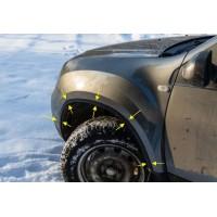 Накладки узкие (комплект) на колесные арки Рено Дастер | Renault Duster с 2011 г.в. по 2015 г.в.