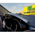 Накладка над панелью приборов из нержавейки (чёрный глянец) Лада Веста | Lada Vesta