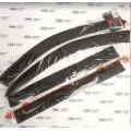Дефлекторы (ветровики) накладные  на Лада Ларгус, Ларгус Кросс, COBRA TUNING (Евростандарт, широкие
