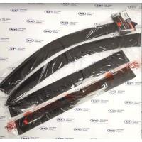 Дефлекторы (ветровики) накладные  на Лада Ларгус, Ларгус Кросс, COBRA TUNING (Евростандарт, широкие арт. V0034)